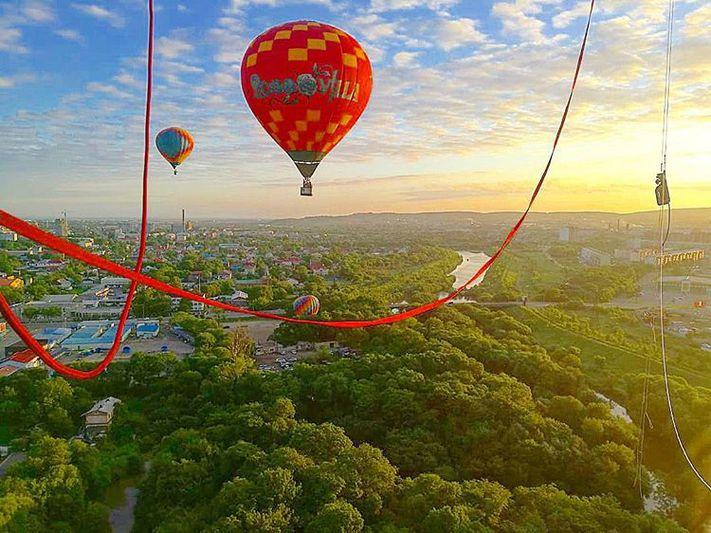 Полет на воздушном шаре над Владивостоком