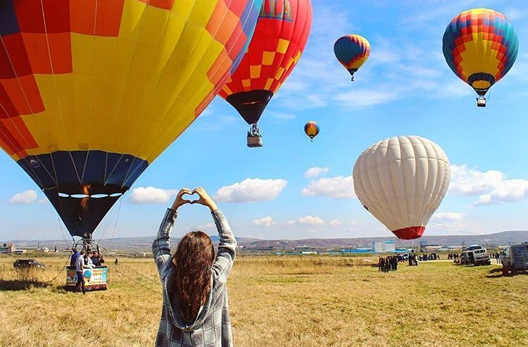 Individual flight in a balloon over Vladivostok