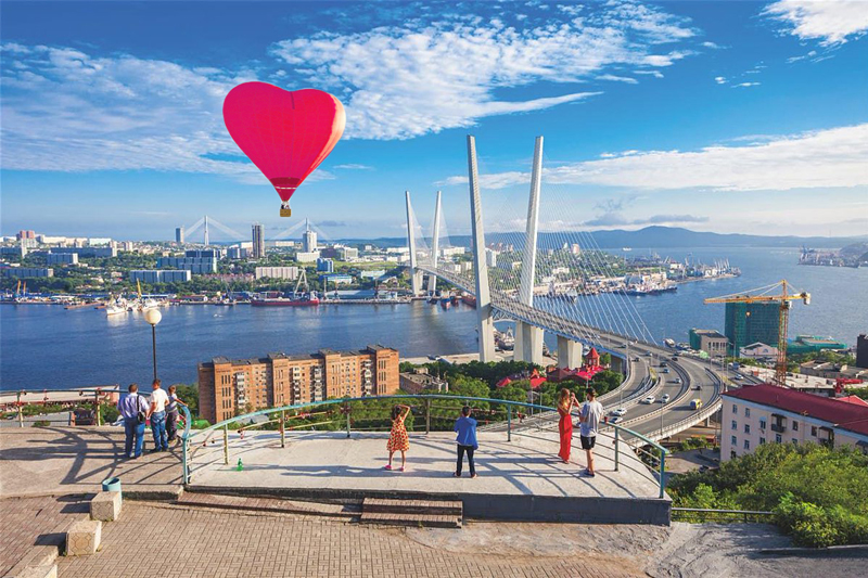 Romantic trip over Vladivostok