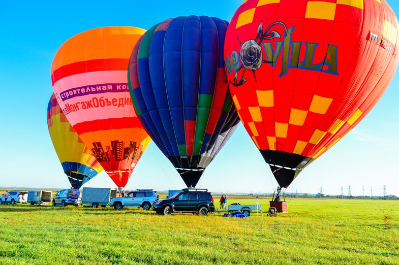 Group flight in a classic balloon in Ussuriysk